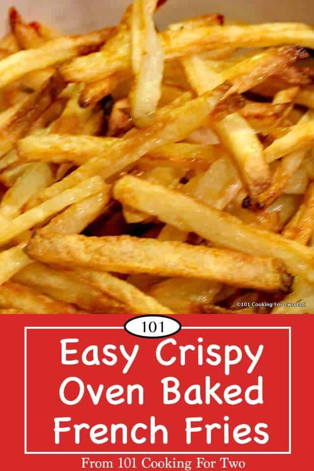 Learn the secrets to the best oven French fries ever. Tasty, crispy, healthy and did I say easy. Now you can do it too. #FrenchFries #Potatoes #OvenBakedFries #ovenbakedfrenchfries