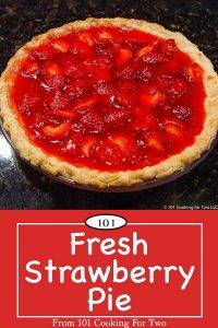 image for Pinterest of fresh strawberry pie