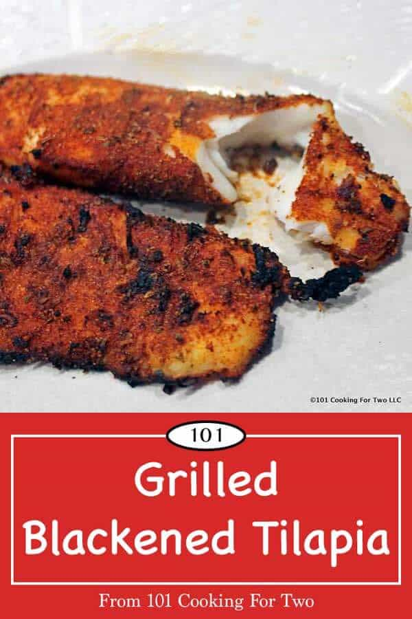 Let's get some variety into our grill season. Healthy eating has never been so good or easy as this wonderfully spicy grilled blackened tilapia. Fire up the grill now. #Tilapia #BlackenedTilapia #GrilledTilapia