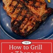 Graphic for Pinterest of grill steak