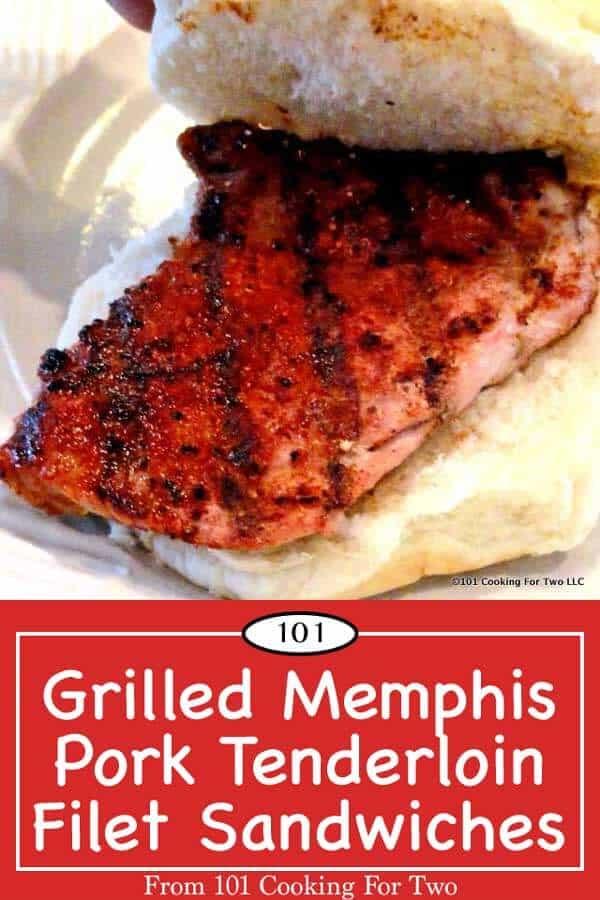 Break the burger habit with this five star Grilled Memphis Pork Tenderloin Filet Sandwiches. Melt in your mouth pork tenderloin with a tasty spicy rub that cooks in 10 minutes. #tenderloinSandwich #PorkTenderloin #GrilledPorkTenderloin