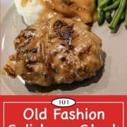 Graphic for Pinterest for Salisbury Steak