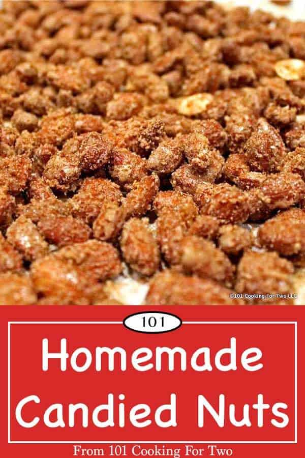 Don't you just love the smell of the candied nuts at the mall or a fair? You can do it at home with these easy to follow step by step photo instructions. #CandiedNuts #CandiedAlmonds