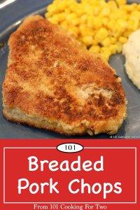 image for Pinterest of Breaded Pork Chop