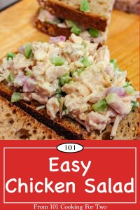 image for Pinterest of Easy Chicken Salad