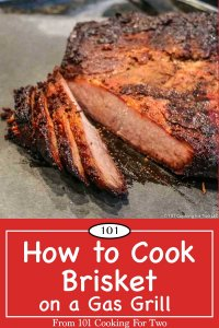 Pinterest image of how to cook a brisket