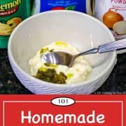 image for Pinterest of homemade tartar sauce