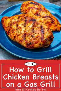graphic for Pinterest of Grilled Chicken Breasts