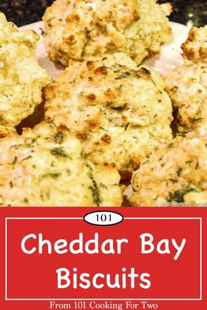 graphic for Pinterst of Cheddar Bay Biscuits