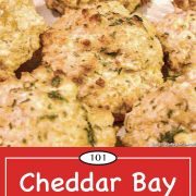 graphic for pinterest for cheddar bay biscuits