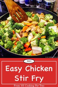 Graphic for Pinterest for Chicken Stir Fry