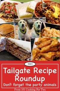 graphic for tailgate recipe roundup