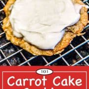 graphic for Pinterest of carrot cake cookie