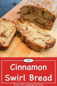 Graphic for Pinterest of Cinnamon Swirl Bread