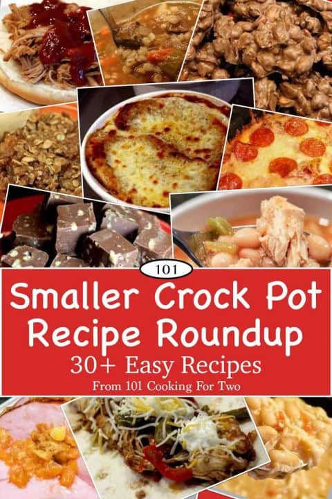 Graphic for Pinterest for Smaller Crock Pot Recipe Rouncup