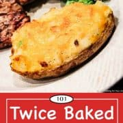 Graphic for Pinterest for twice baked potatoes