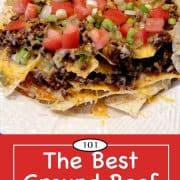 graphic for Pinterest of taco meat