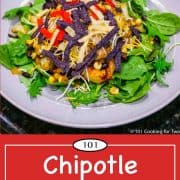 Graphic for Pinterest of Chipotle Chicken Salad