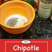 Graphic for Pineterest for Chipotle Seasoning