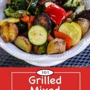 Graphic for Pinterest of Grilled Mixed Vegetables