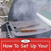 Graphic for Pinterest for Smoking on a Gas Grill