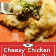 graphic for Pinterest of chicken broccoli rice casserole