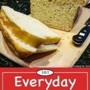 Graphic for Pinterest for basic bread