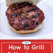graphic for Pinterest of grill hamburger tutorial