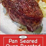 graphic for Pinterest of baked filet
