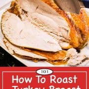 Graphic for Pinterest of turkey breast