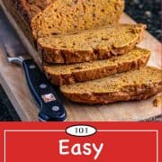 graphic for Pinterest of Pumpkin Bread