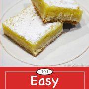 graphic for Pinterest of lemon bars
