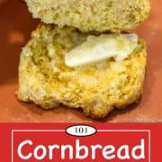 graphic for Pinterest for cornbread biscuits