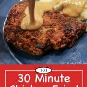 Graphic for Pinterest of chicken fried steak
