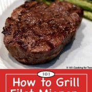 graphic for Pinterest for grilled filet