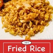 graphic for Pinterest of fried rice